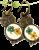 Forget -me- not Owl earrings